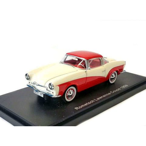Modelauto Rometsch Lawrence Coupe 1959 creme/rood 1:43