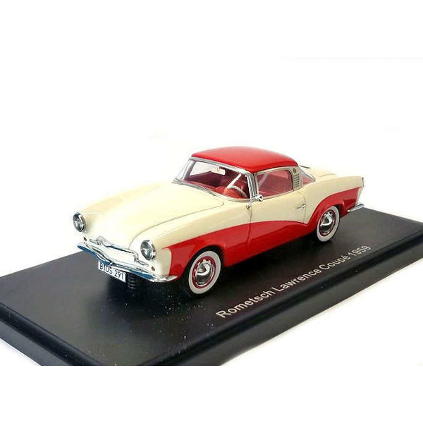 Rometsch Lawrence Coupe 1:43 creme/rood 1953 | BoS Models