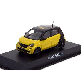 Norev Model car Smart Forfour 2014 yellow metallic/black 1:43