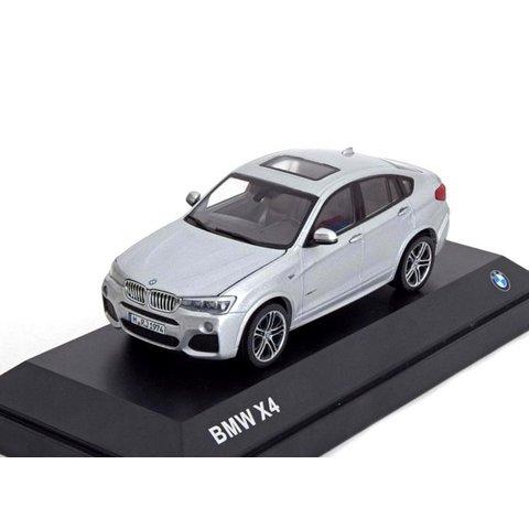 Modelauto BMW X4 (F26) 2015 zilver 1:43