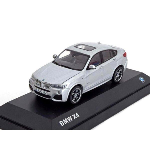BMW X4 (F26) 1:43 zilver 2015 | Herpa