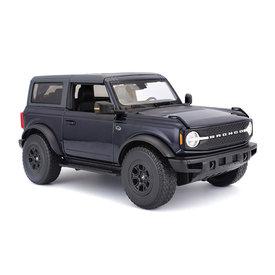 Maisto Modelauto Ford Bronco Wildtrak 2021 donkerblauw 1:18