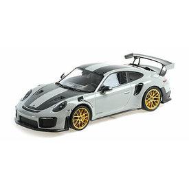 Minichamps Modelauto Porsche 911 (991 II) GT2 RS 1:18 Weissach Package grijs 2018