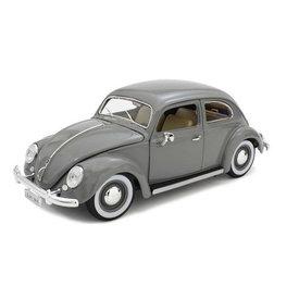 Bburago Modelauto Volkswagen Kever 1955 grijs 1:18