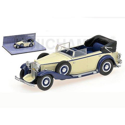 Maybach Zeppelin 1932 wit/blauw - Modelauto 1:43