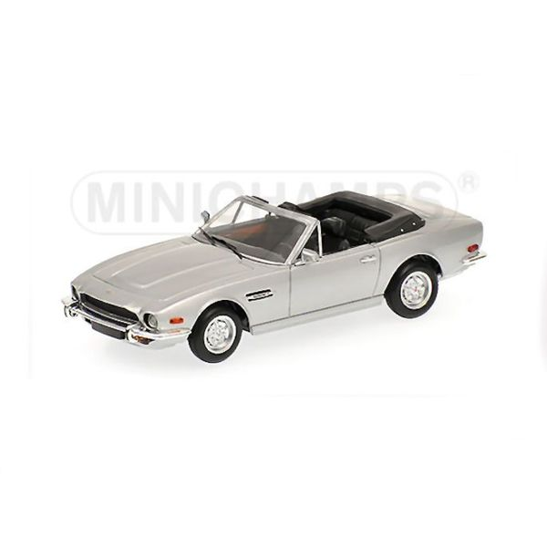 Model car Aston Martin V8 Volante 1987 silver 1:43