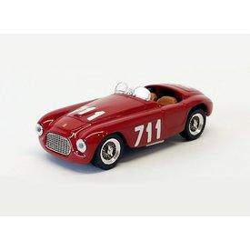 Art Model Ferrari 166 MM No. 711 1950 rood - Modelauto 1:43