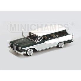 Minichamps Edsel Bermuda Station Wagon 1958 groen/wit - Modelauto 1:43