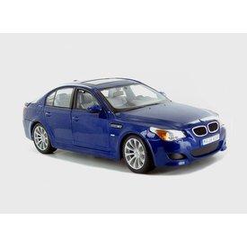 Maisto BMW M5 blauw metallic - Modelauto 1:18