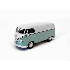 Cararama Volkswagen VW T1 Transporter bright blue/white 1:43