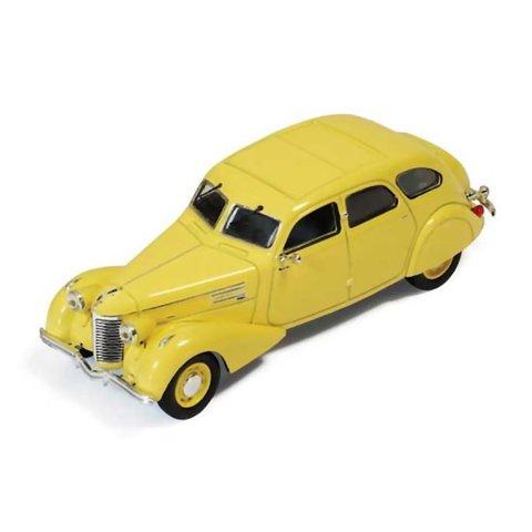 Berliet 11CV Dauphine 1939 geel - Modelauto 1:43