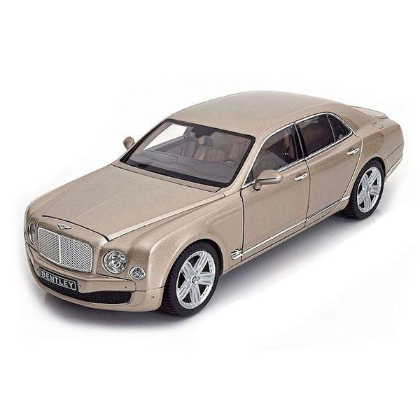 Model car Bentley Mulsanne champagne 1:18