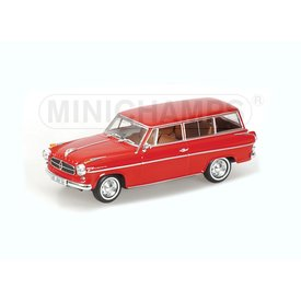 Minichamps Borgward Isabella Break 1958 rood - Modelauto 1:43