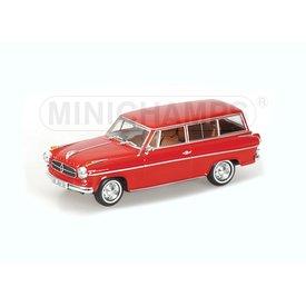Minichamps Modelauto Borgward Isabella Break 1958 rood 1:43