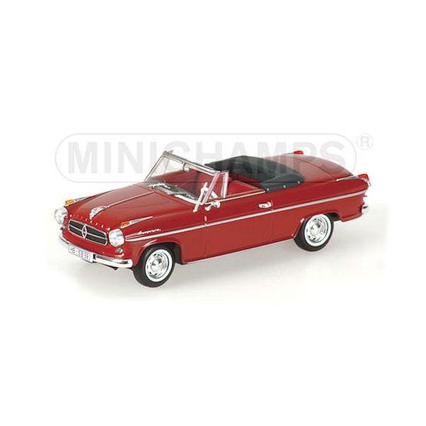 Model car Borgward Isabella Cabriolet 1959 dark red 1:43