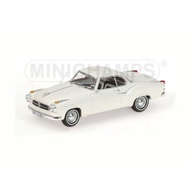 Minichamps Borgward Isabella Coupe 1959 white - Model car 1:43