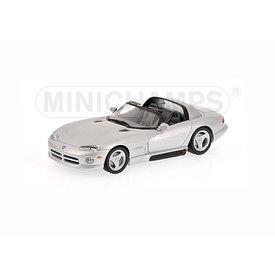 Minichamps Dodge Viper Cabriolet 1993 zilver - Modelauto 1:43