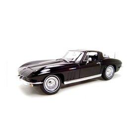 Maisto Chevrolet Corvette 1965 zwart - Modelauto 1:18