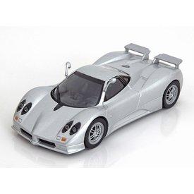 De Agostini Pagani Zonda C12S zilver - Modelauto 1:43
