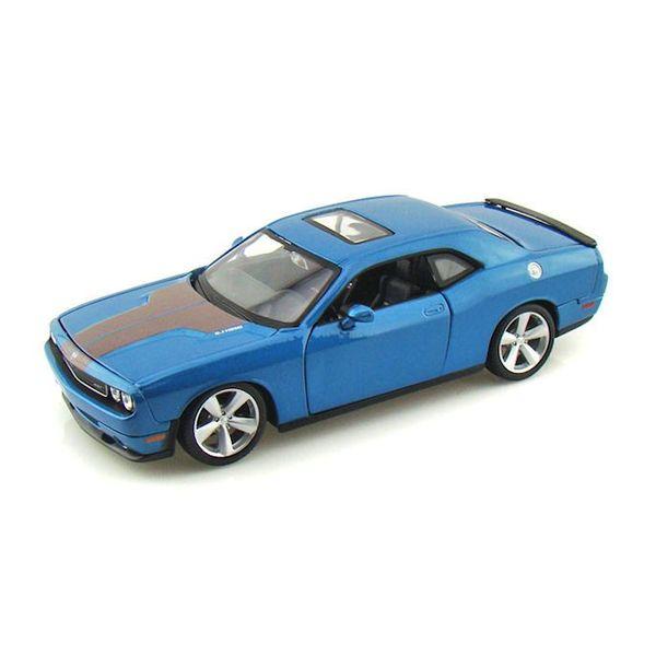 Modelauto Dodge Challenger SRT8 2008 blauw 1:24