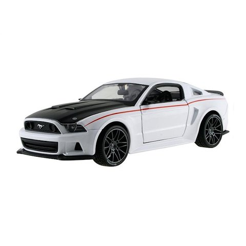 Ford Mustang Street Racer 2014 wit /zwart - Modelauto 1:24