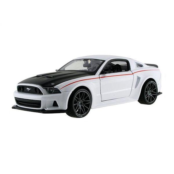 Modelauto Ford Mustang Street Racer 2014 wit /zwart 1:24
