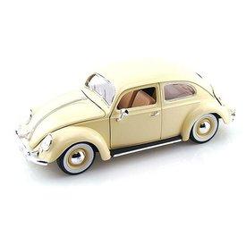 Bburago Volkswagen Kever 1955 creme - Modelauto 1:18