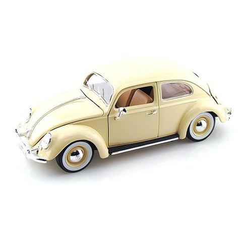 Volkswagen Kever 1955 creme - Modelauto 1:18