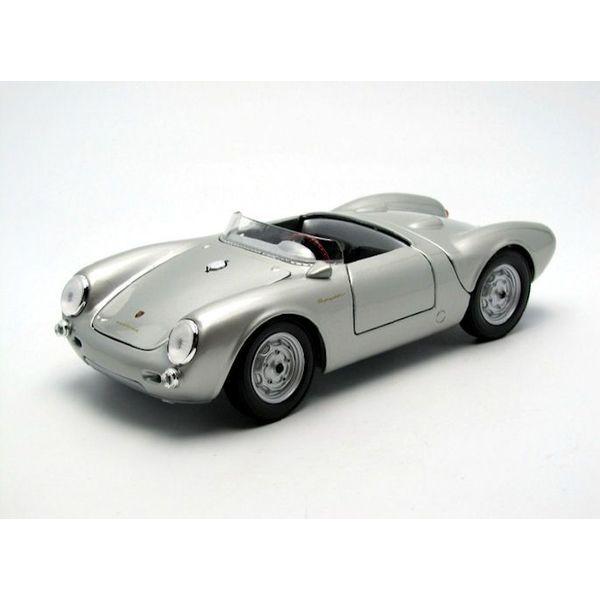 Model car Porsche 550 A Spyder 1950 silver 1:18 | Maisto