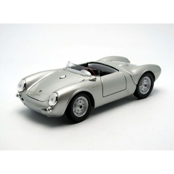 Modelauto Porsche 550 A Spyder 1950 zilver 1:18 | Maisto