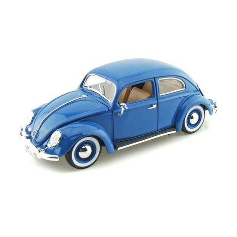 Volkswagen Beetle 1955 blue - Model car 1:18