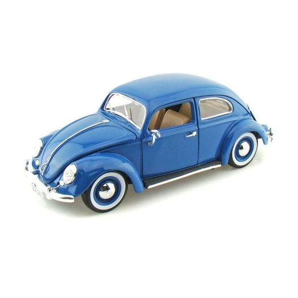 Modelauto Volkswagen Kever 1955 blauw 1:18
