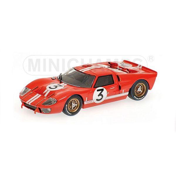 Model car Ford GT40 MK II No. 3 1966 red 1:43