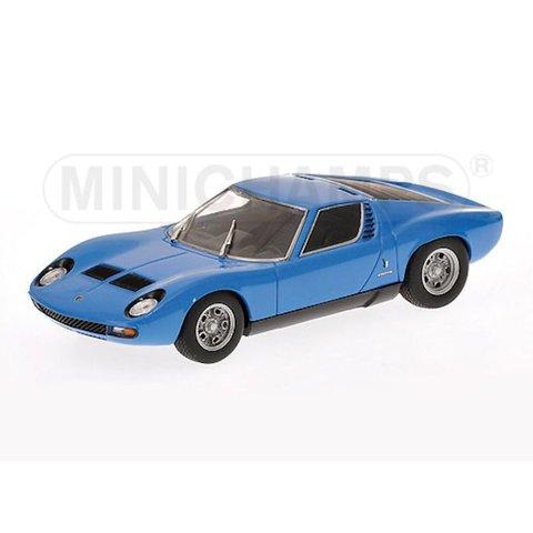 Lamborghini Miura SV 1971 blauw - Modelauto 1:43