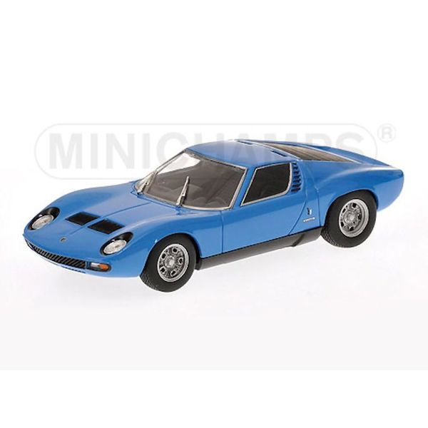 Modelauto Lamborghini Miura SV 1971 blauw 1:43 | Minichamps