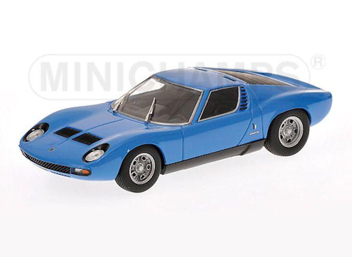 Model Car Lamborghini Miura Sv 1971 Blue 1 43 Minichamps Mdk