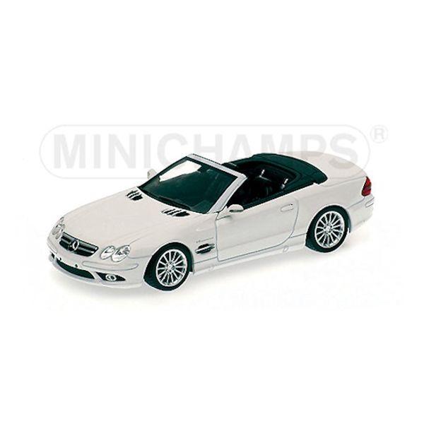 Model car Mercedes Benz SL55 AMG (R270) 2006 white 1:43 | Minichamps
