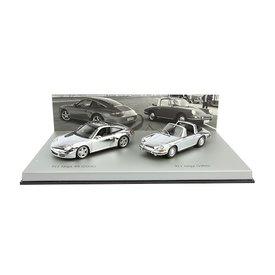 Minichamps Porsche 911 Targa chrom set 1966 / 2006 1:43