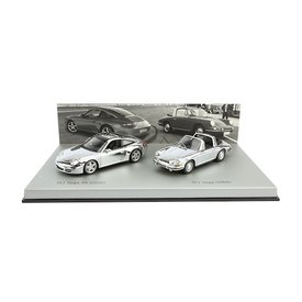 Minichamps Porsche 911 Targa chroom set 1966 / 2006 1:43