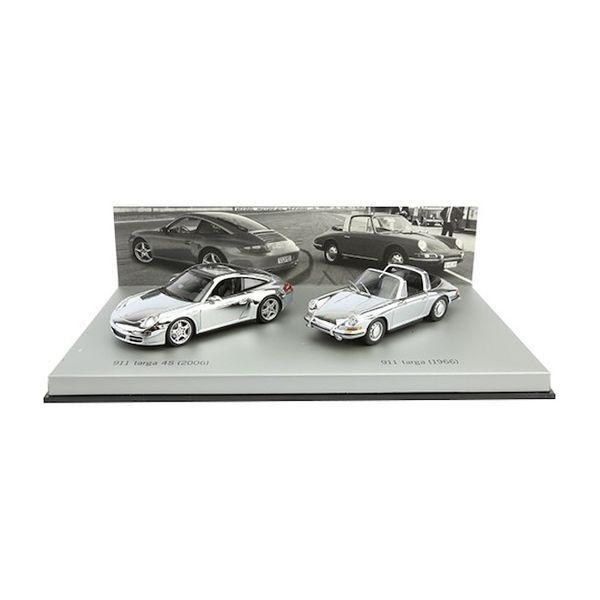Porsche 911 Targa chrom set 1966 / 2006 1:43