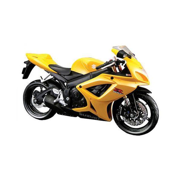 Modelmotor Suzuki GSX-R 600 geel 1:12   Maisto
