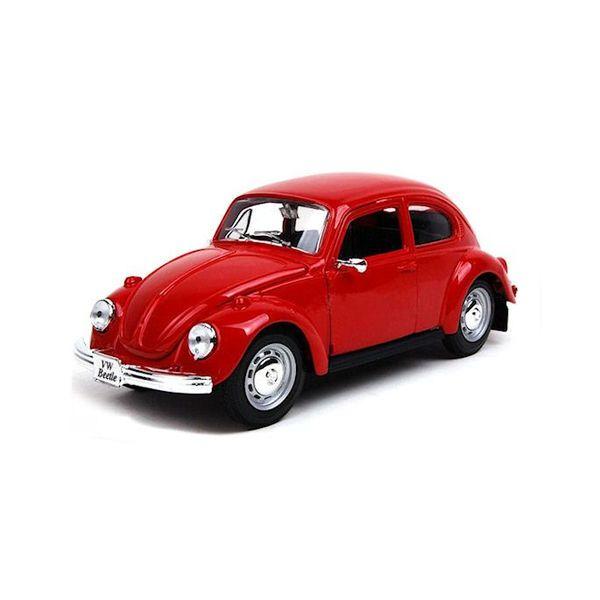 Modelauto Volkswagen Kever rood 1:24