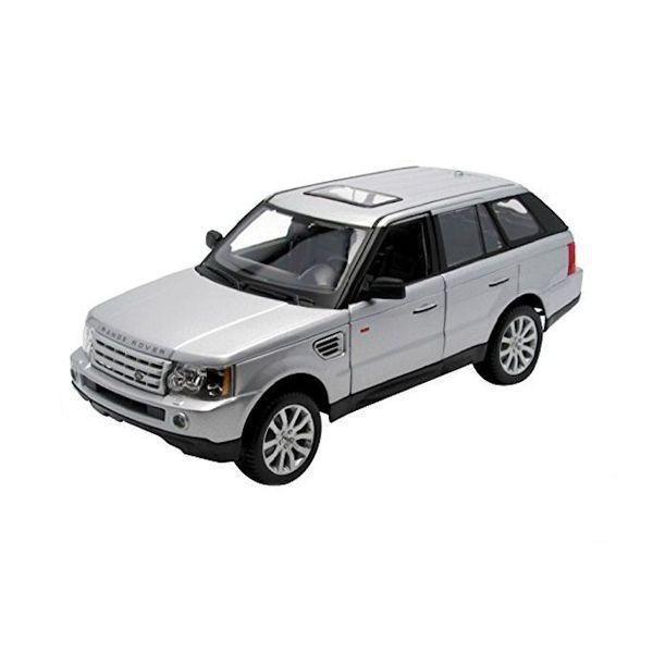 Modelauto Rastar 1:43 Range Rover Sport silbern