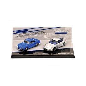 Minichamps Porsche 911 Turbo & Volkswagen Karmann Ghia Coupe set