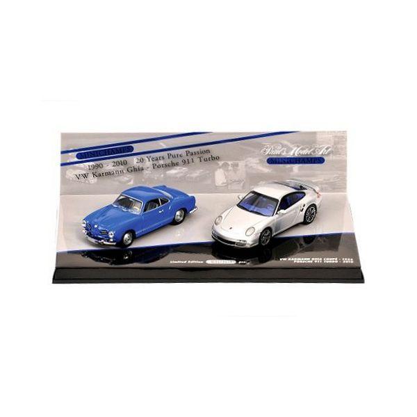 Modelauto set Porsche 911 Turbo & Volkswagen Karmann Ghia Coupe