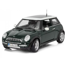 Maisto Mini Cooper with sunroof dark green 1:18