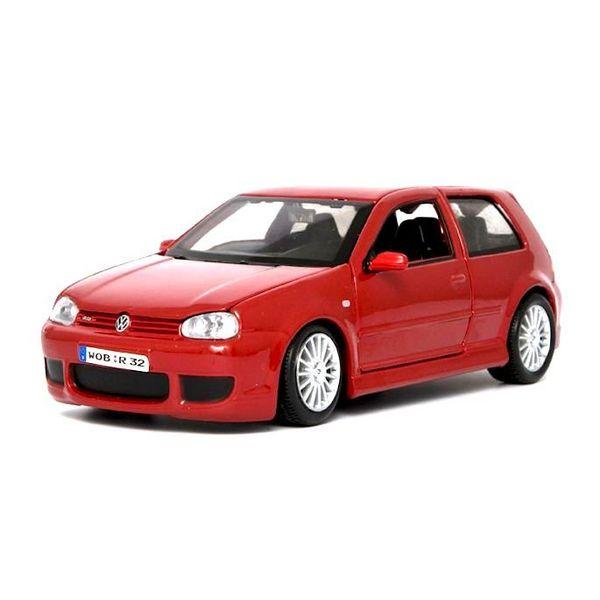 Modelauto Volkswagen VW Golf R32 rood 1:24