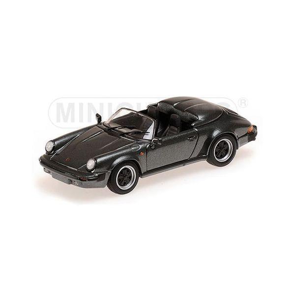 Modelauto Porsche 911 Speedster 1988 grijs metallic 1:43   Minichamps