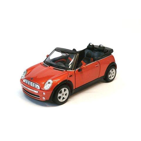 Mini Cooper Cabriolet 2011 oranje - Modelauto 1:24