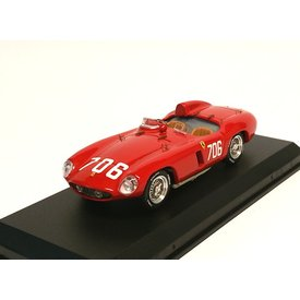 Art Model Ferrari 750 Monza No. 706 1955 rood - Modelauto 1:43